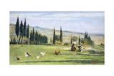 Gabbro Landscape Reproduction procédé giclée par Silvestro Lega