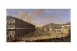 Palace Square in Naples Giclée-Druck von Gaspar van Wittel