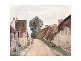 Village Sstreet, Auvers-Sur-Oise, 1873 Reproduction procédé giclée par Camille Pissarro