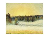 Misty Sunset at Eragny, 1891 Reproduction procédé giclée par Camille Pissarro