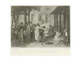 Dr Pinel at the Hospital of Salpetriere Giclee Print by Joseph Nicolas Robert-Fleury
