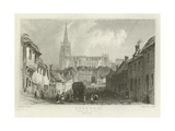Thaxted, from the South, Essex Reproduction procédé giclée par William Henry Bartlett