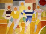 The Runners, 1926 Gicléedruk van Robert Delaunay