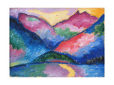 The Oy Valley, 1910 Giclee-trykk av Alexej Von Jawlensky