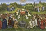 Adoration of the Mystic Lamb Giclée-tryk af Hubert & Jan Van Eyck