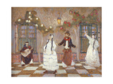 The Chacarera Giclée-tryk af Pedro Figari