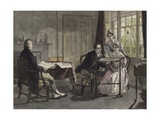 George Stephenson at Darlington in 1823 Giclee Print by Alfred Rankley