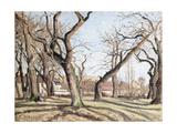 Chestnut Trees at Louveciennes, 1872 Reproduction procédé giclée par Camille Pissarro