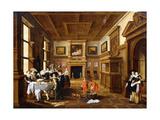 A Merry Company in an Interior Lámina giclée por Dirck Hals