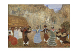 Creole Dance Giclée-tryk af Pedro Figari