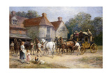 Changing Horses Giclée-tryk af Heywood Hardy