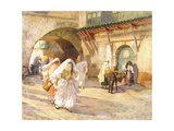 Arab Women in a Street Giclée-tryk af Frederick Arthur Bridgman