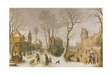 The Four Seasons: Winter Giclée-Druck von Sebastian Vrancx