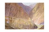 The Devil's Bridge- St Gothard's Pass Giclee Print by Alfred William Hunt