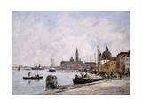 The Quay on Giudecca, Venice, 1895 Reproduction procédé giclée par Eugène Boudin
