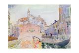 Canal in Venice Giclee Print by Henri Edmond Cross