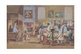 Interior of a London Coffee House, C.1650-1750 Giclée-vedos