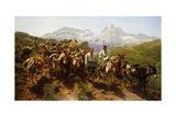 Spanish Muleteers Crossing the Pyrenees, 1857 Giclee Print by Rosa Bonheur