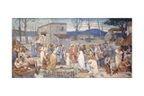 The Childhood of Saint Genevieve, 1874 Giclee Print by Pierre Puvis de Chavannes