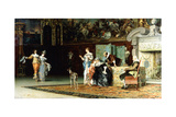 Grandmother's Visit, 1881 Giclée-Druck von Francesco Vinea