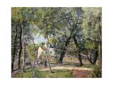 Landscape at Osny Near the Drinking Trough, 1883 Reproduction procédé giclée par Camille Pissarro