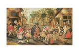 The Blind Hurdy-Gurdy Player Giclée-vedos tekijänä Pieter Brueghel the Younger