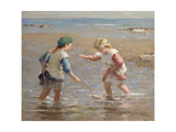 Playing in the Shallows Giclée-tryk af William Marshall Brown