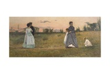 Fiances or Betrothed, 1869 Reproduction procédé giclée par Silvestro Lega