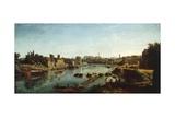 View of Tiber Giclée-Druck von Gaspar van Wittel