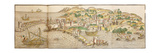 Panoramic View of Rhodes, 1486 Giclee Print by Erhard Reuwich