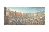 Norwich Market Place, 1799 Giclee Print by Robert Dighton