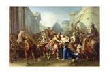 Hector Taking Leave of Andromache, 1727 Giclee Print by Jean II Restout