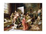 The Art Class Giclee Print by Arturo Ricci