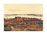 Village in Senegal Giclee Print by Edouard Auguste Nousveaux