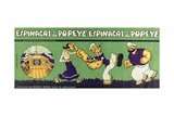 Packaging for Popeye Spinach Giclée-tryk