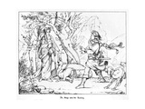 The Saga of Lorelei, Engraved by J. Dielmann Giclee Print by Alfred Rethel