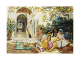 In a Village at El Biar, Algiers Giclee Print by Frederick Arthur Bridgman