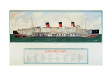 Sectional Plan of R.M.S. Queen Mary by G.Havis Giclee Print