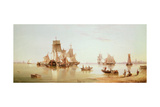 Ships in a Calm, 1873 Giclee Print by Henry Redmore
