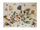 A Study of Flowers and Insects Giclée-Druck von Jan Van, The Elder Kessel
