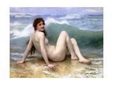 The Wave, 1896 Reproduction procédé giclée par William Adolphe Bouguereau