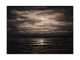 Twilight on Lake Leman in Bon Port, 1876 Giclee Print by Gustave Courbet