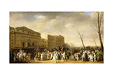 A Carnival on the Boulevard Du Crime, 1832 Giclee Print by Louis Leopold Boilly