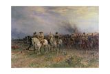 Cromwell after the Battle of Marston Moor Giclee Print by Ernest Crofts
