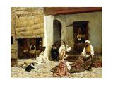 A Rug Bazaar in Tangiers, 1878 Gicléedruk van Edwin Lord Weeks