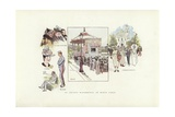 An Artist's Wanderings, at Monte Carlo Giclee Print by Phil May