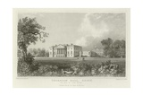 Thorndon Hall, Essex, the Seat of Lord Petre Reproduction procédé giclée par William Henry Bartlett