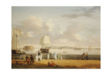 The Battery and Harbour, New York, C.1811-1812 Giclee Print by Thomas Birch