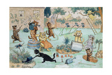 The Gardeners Reproduction procédé giclée par Louis Wain