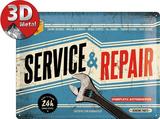 Service & Repair Plaque en métal